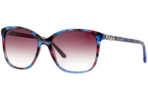 Bulgari Für Frau 8152b Blue / Red Fantasy / Violet Gradient Kunststoffgestell Sonnenbrillen