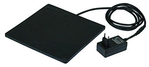 Kerbl 70239 Gummi-Heizplatte für Kleintiere und Geflügeltränken 24 x 24 cm, 18 Watt 24V