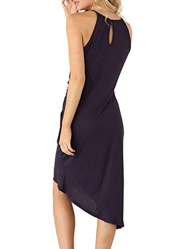 Eliacher Frauen hling und Sommer einfachen Falten Weste Rock Kleid 6070 Foto Farbe
