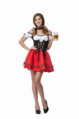 NGHJF Bayerischen Oktoberfest Bier Maid kostüm mädchen kostüm Erwachsene Frauen Bluse schürze Cosplay kostüm@M