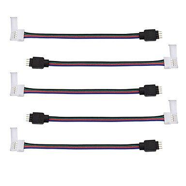 Fünf Licht Wandleuchte Strip (5 Stk. Führte 5050 rgb Streifenlichtstecker - Streifen zum Netzadapter - 5050 zum Transformator DC-Buchse - 4 Leiter 10mm breit 5050 rgb)