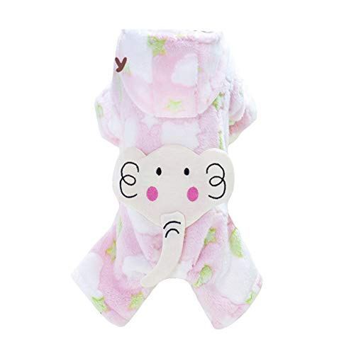Lisay Haustier Small Kleidung Slim Fit Kostüme Haarig Outdoor Mode Soft Cotton Kapuzenpullover Welpen SpitzeJumpsuit -