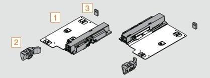 BLUM 8997274 Tip-ON Einheit Tandem 560 H Plus, TK 30 kg