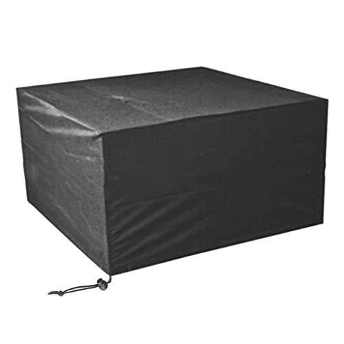 Housse salon de jardin Housse de Patio pour Table et chaises, couvertures de Meubles d'extérieur rectangulaires Robustes et imperméables, Noir (Taille : 308 * 138 * 98cm)