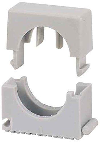 Pêcheurs 68032 Sch Collier pour sans halogène, nylon, diamètre : 23 mm - 32 mm, gris (Lot de 25)
