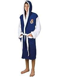 Real Madrid Albornoz Oficial del Club de Algodón 100% 360 gr/m2. (Talla S (Small))