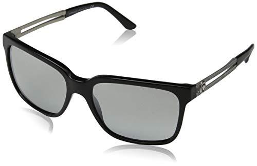 Versace Herren 0VE4307 GB1/6V 58 Sonnenbrille, Schwarz (Black/Lightgreymirrorgradsilver),