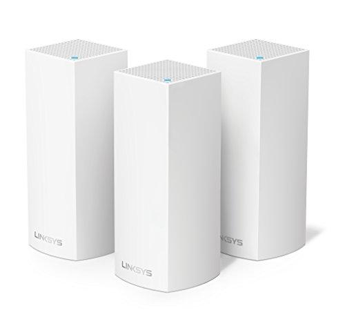 Linksys Velop Tri Band AC6600 WLAN Mesh System (funktioniert mit Amazon Alexa, 3-Pack, bis 500m2, einfache Installation, maximierte Reichweite und Geschwindigkeit) weiß