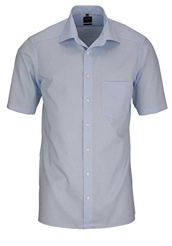 Olymp Luxor Herren Modern Fit Hemd, 0300/12/15, Halbarm, Hellblau