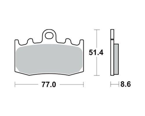 Preisvergleich Produktbild Lucas Bremsbeläge TRW MCB748SV für BMW K 1200 GT Integral ABS K12 01–05 (vorne)