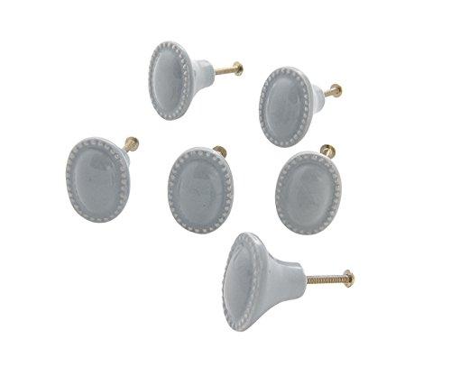 Dritz Home 47010) eine Keramik Vintage Oval Knauf Handgefertigtes Knöpfe für Schränke und Schubladen -