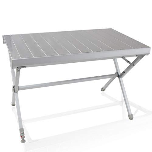 Vimele Table Pliante en Aluminium Table Portable extérieure Auto-Conduite Table de Camping Table de Camping Table d'exposition Table Couleur oxydante