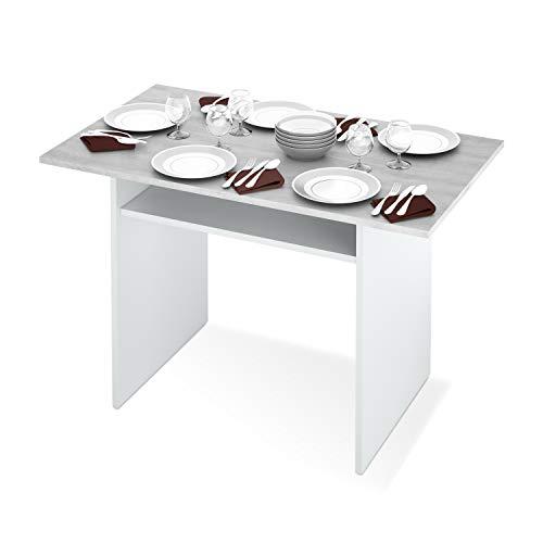 Habitdesign 0l4587a-Tavolo CONSOLLE Pop-Up, Tavolo da Cucina allungabile Apertura A Libro, Misure Tavolo Chiusa: 77x 120x 35cm di profondità