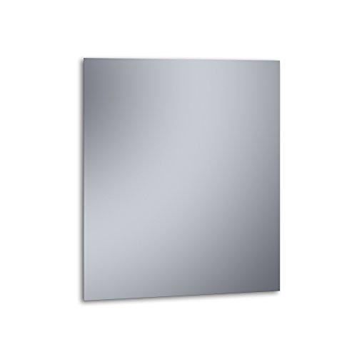 """Kristaled Basic \""""L\"""" 70x80 cm (Colgador Especial focos Pinza) Espejo, Cristal, Plateado, 70x80x3 cm"""