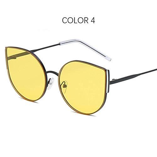 Loving Bird Liebevoller Vogel 2019 New Cat Eye Sonnenbrille Frauen Retro Schwarz Übergroße Sonnenbrille Markendesigner Große Sonnenbrille Damen UV400 Oculos, Farbe 4
