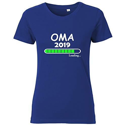 LittleBigFamily - Oma Loading 2019 - Damen T-Shirt Blau L