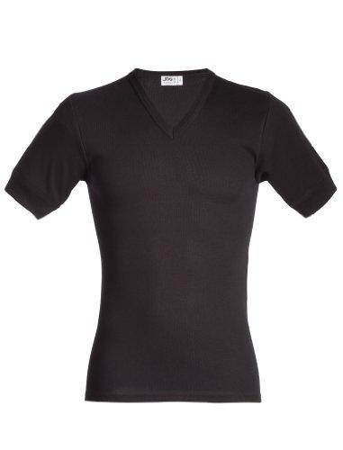 jbs – T-Shirt sous-vêtement avec scuollo à V Homme dess. 338 XL Noir (Schwarz)