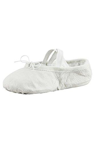Dança Padrão De Ballet Shoes / Balé Feitas De Couro, Sola De Todo, Para Crianças E Adultos Em Pedra Cor De Areia Branca Os Tamanhos 22-45.