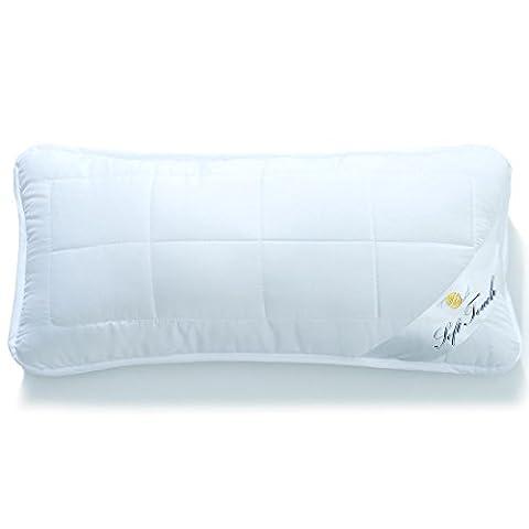 Kopfkissen 40x80 mit Reißverschluss zum Anpassen der Füllung, waschbar bis 95 Grad, atmungsaktiv, aqua-textil Soft Touch 0010664
