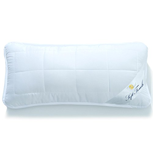 aqua-textil Kopfkissen 40x80 mit Reißverschluss zum Anpassen der Füllung, Waschbar bis 95 Grad, Atmungsaktiv, Soft Touch 1000747