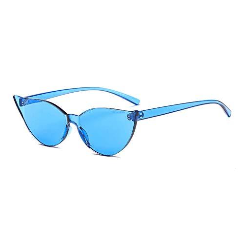 TYJYTM Candy Farbe One Piece Lens Sonnenbrille Frauen Transparente Kunststoff-Brille Männer Sonnenbrille Durchsichtige Sonnenbrille