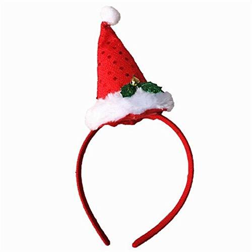 HPEDFTVC Frohe Weihnachten Weihnachtsmann Hut Kleid Kostüm DIY Party Decor Dress Up Versorgung Kopf Tragen Haarband Geschenk Für ()