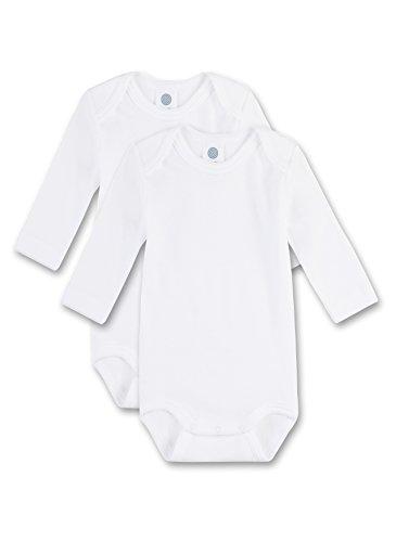 2 Pack Nachthemd (Sanetta Unisex - Baby Body 321861, 2Er Pack, Einfarbig, Gr. 80, Weiß (White 10))