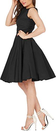 Black Butterfly 'Audrey' Vintage Clarity Kleid im 50er-Jahre-Stil (Schwarz, EUR 36 – XS) - 2
