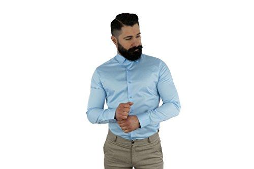 MCR Moda Crise -  Camicia classiche  - Uomo Blu