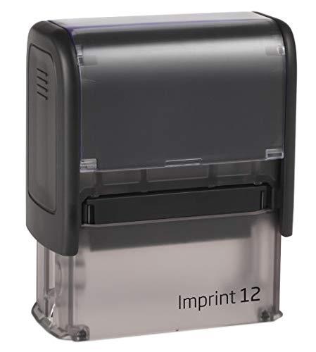 Print&Bind Center Stempel Selbstfärber TRODAT Imprint mit Wunschtext (Imprint 12 4-5 Zeilen Abdruckgröße: 18 x 47 mm)