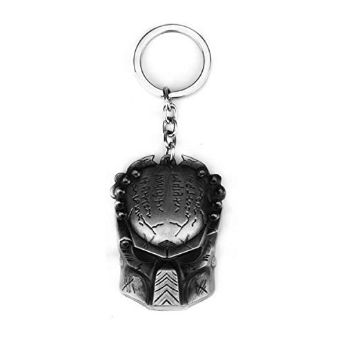 Hzzzzz AVP Predador Mask Model Keychring Men's Pendant Keychain Color Ancient Tin