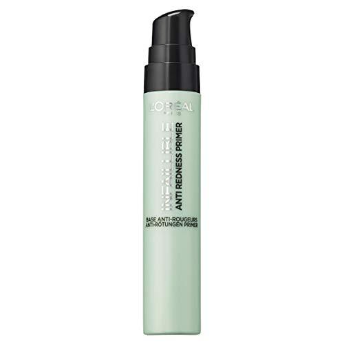 L\'Oréal Paris Infaillible Anti-Redness Primer, die Make-up-Grundierung gleicht Rötungen im Gesicht aus, bereitet die Haut optimal auf das Make-up vor