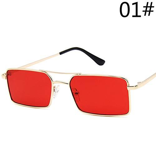 Kjwsbb Damen Sonnenbrille Rechteck Sonnenbrille Frauen Männer Sonnenbrille Brillen 13 Farben