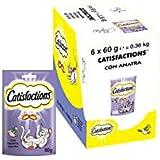 CATISFACTIONS Friandises au Canard pour Chat et Chaton, 6 Sachets de 60g