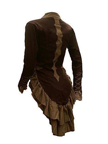 Giacca Gotica per Donna Giacche e Cappotti Vestiti Fantasy Medievali Cachi S