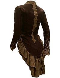 34a32a71533f Giacca Gotica per Donna Giacche e Cappotti Vestiti Fantasy Medievali Cachi L