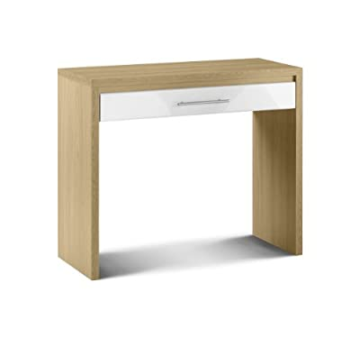 Julian Bowen Stockholm Dressing Table, Oak/White Gloss