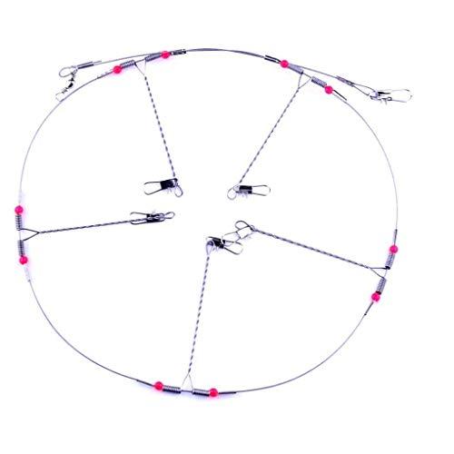 10 stücke Edelstahl Angeln draht führer Seil Linie Swivel String Haken Balance Halterung angelgerät zubehör haltbar und nützlich -