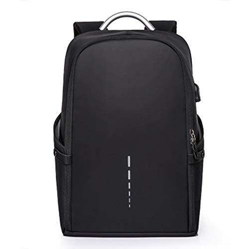 BCXS Tudent rucksack, großraum rucksack mode herren rucksack outdoor licht schüler tasche usb rucksack-black