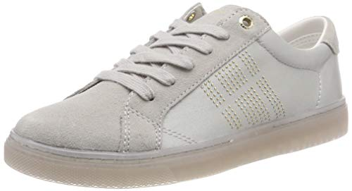 Tommy Hilfiger Damen Sparkle Satin Essential Sneaker, Grau (Diamond Grey 001), 41 EU Diamond Sneaker