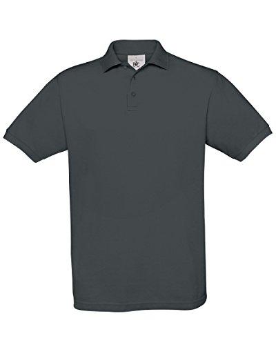 B&C Herren T-Shirt Dunkelgrau