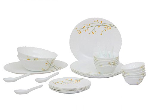 LaOpala Citron Weave Dinner Set, 27-Pieces, Multicolour