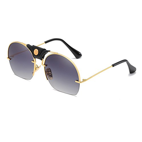 Mens Hot Fashion Driving Metal Frame Gradient Sunglasses For Men (Dress Girls Up Hot)