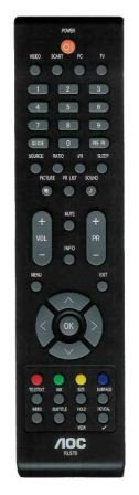 Fernbedienung RL57B für LCD TV AOC (Aoc Fernseher)