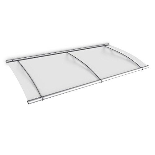 Schulte Vordach Überdachung Haustürvordach 190x95cm Acrylglas satiniert Edelstahl matt...