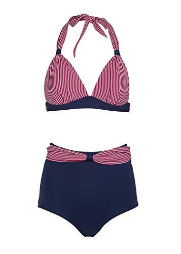 Maritimer Sailor Matrosen Damen Pinup Bikini mit hoher Taille (2-TLG. Set) - Gr. M (Pin-up-bikinis)