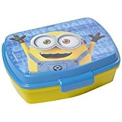 GIRM Porta merenda BBS MINION. Portamerenda in plastica per la pappa dei bambini. Stoviglie per bambini in plastica lavabile in lavastoviglie