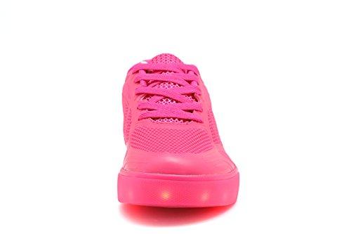 TULUO , Chaussures de ville à lacets pour femme Rose
