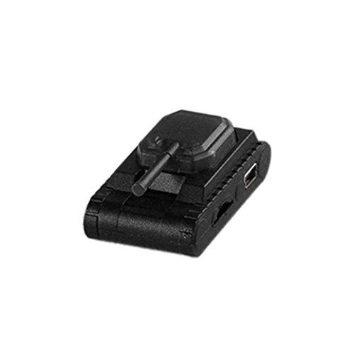 Amlaiworld Tank Form sport Mini MP3-Player Unterstützung 32 GB Micro TF-Karte Freizeit Mode Fitness Elektronisch geräte Tragbare Urlaub USB bunt Musik player (Schwarz)