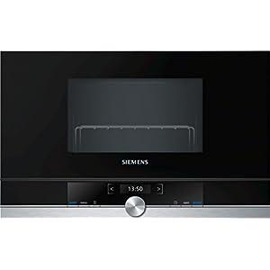 Siemens BE634LGS1 iQ700 Mikrowelle / 900 W / 21 L Garraum / LED-Innenbeleuchtung / Edelstahl